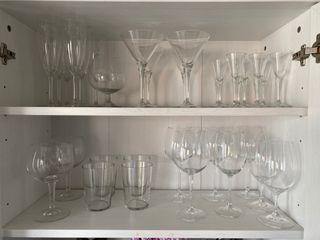 Juego de cristalería diferentes copas
