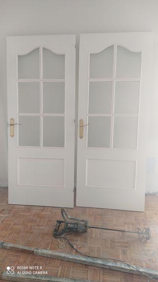 puertas lacadas con cristales