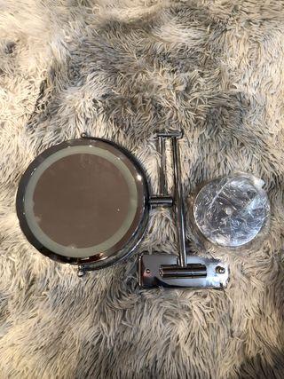 Espejo cosmético LED para colgar