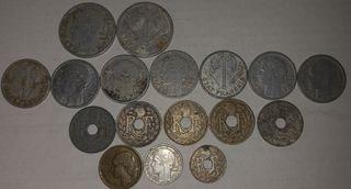 Lote monedas antiguas francesas