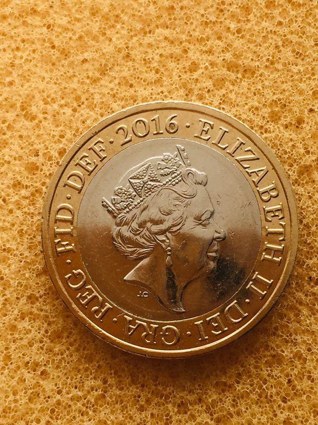 2 pounds coin Britannia 2016. ####