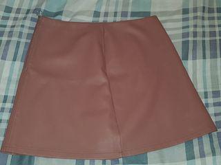 Primark Pink Leather Mini Skirt