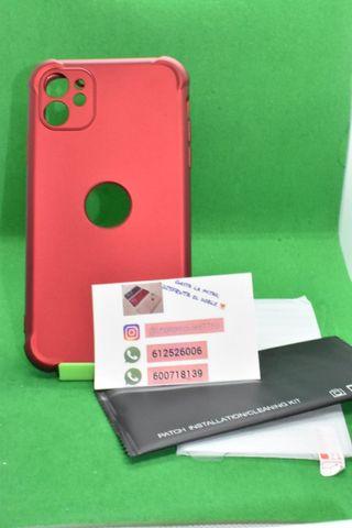 Funda entera iphone 11 + cristal templado