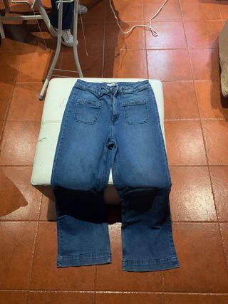 Pantalones de campana azules t-40