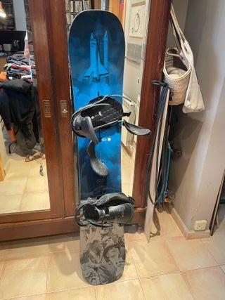 tabla snowboard 161 + fijaciones Burton Process