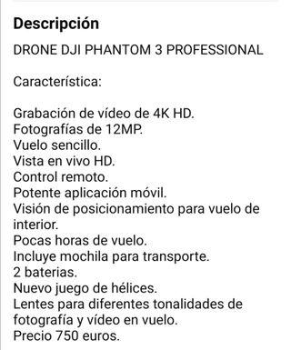 Dron Phantom profesional