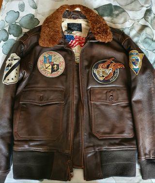 chaqueta piloto piel AVIREX G-1