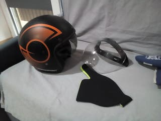 casco custom +pantalla retro xl