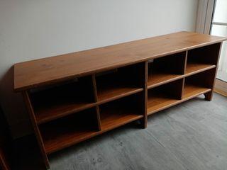 Mueble banco zapatero de madera