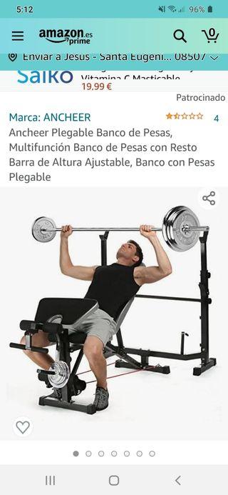 banco olímpico pesas