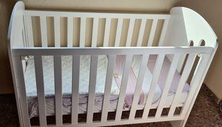 Cuna de bebé +colchón viscoelástica