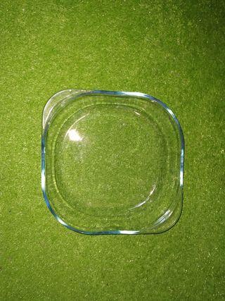 Fuente de cristal, molde para bizcocho, etc Nuevo