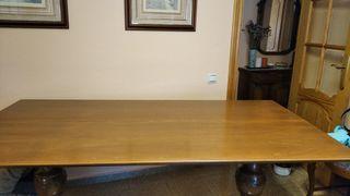 Mesa plegable de madera
