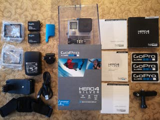 Gopro Hero 4 Silver + extras (impecable)