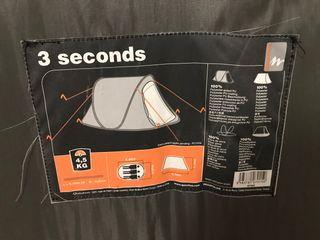 Tienda de campaña 3 segundos