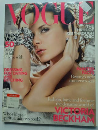 VOGUE magazine UK edition Abril 2008. V. BECKHAM