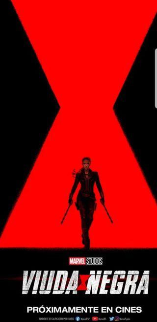 Póster Viuda Negra . Marvel