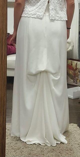 Falda novia