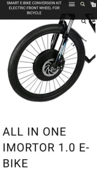 Kit iMortor bicicleta eléctrica rueda 29