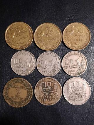 lote de monedas francesas antiguas