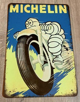 Cartel decoración. Neumáticos de moto Michelin