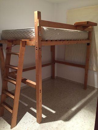 Cama de matrimonio litera cama alta