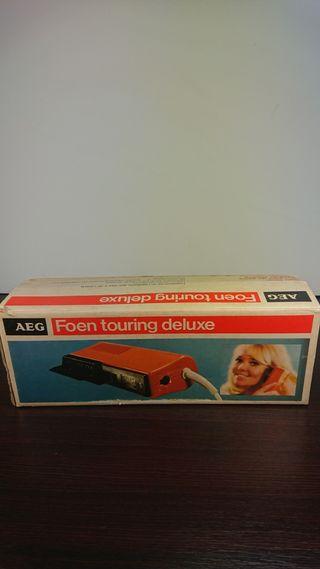 Secador AEG Foen touring deluxe años 70