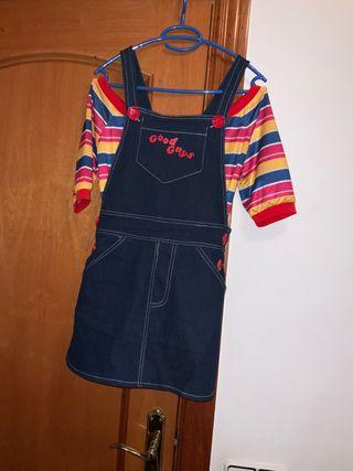 Disfraz cosplay halloween chucky mujer