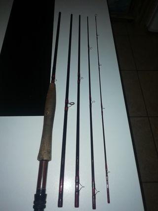 equipo completo pesca a mosca