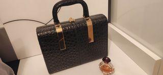 Bolso maletín vintage piel años 60