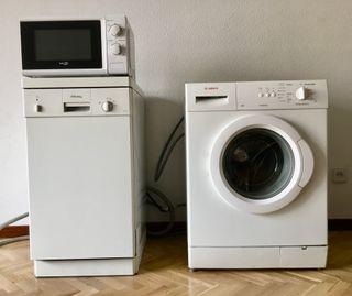 Pack: Lavavajillas pequeño + lavadora + microondas