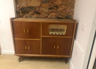 Mueble aparador vintage radio funciona