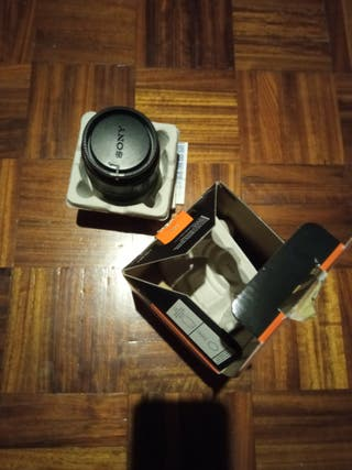 objetivo cámara de fotos Sony