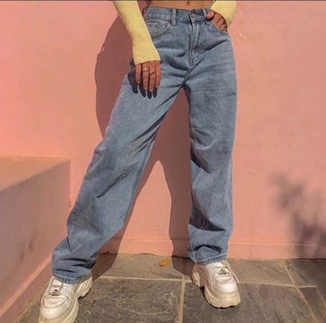 High Waisted Blue Flare Jeans