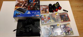 PS3 12 GB + mandos y juegos