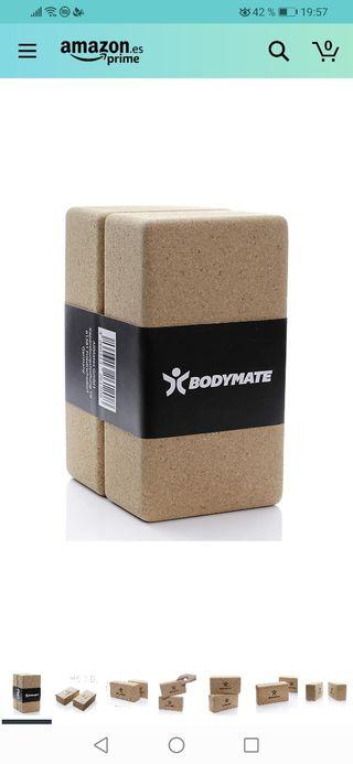 2 bloques de yoga de corcho 100% ecológico.