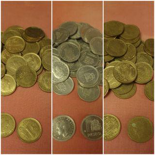 3 lotes 40 monedas de 1 pta. (120 ptas) (6€ todo)
