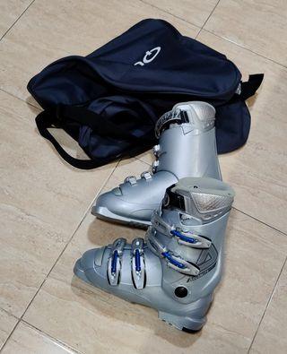 Botas de esquí mujer, talla 36-37, con bolsa