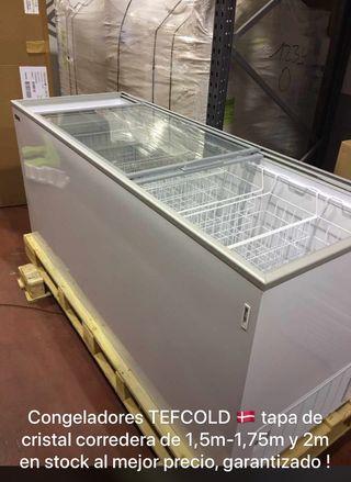 Congeladores con tapa de cristal corredera