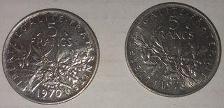 Lote monedas francesas antiguas