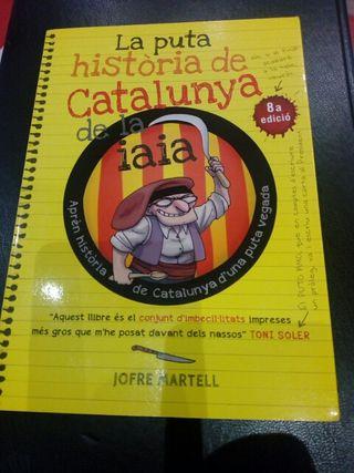 Libro La puta historia de Catalunya de la iaia