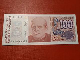 Billete Argentina 100 australes SC
