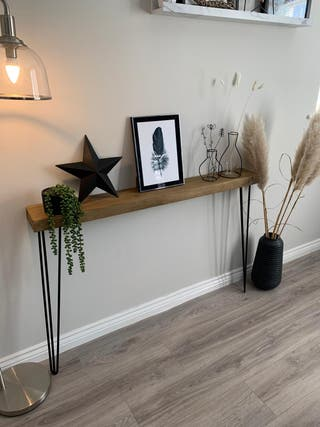 Rustic Wooden hairpin legged console table