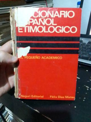 3 x 2 Diccionario español etimológico, libro