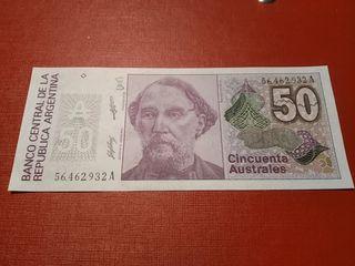 Billete Argentina 50 australes SC