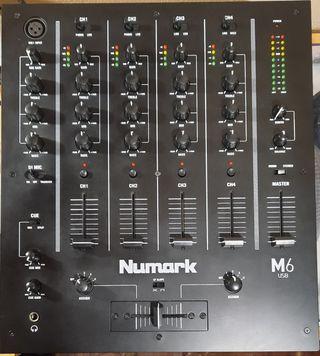 Mesa de Mezclas Numark M6usb 4 canales, impecable
