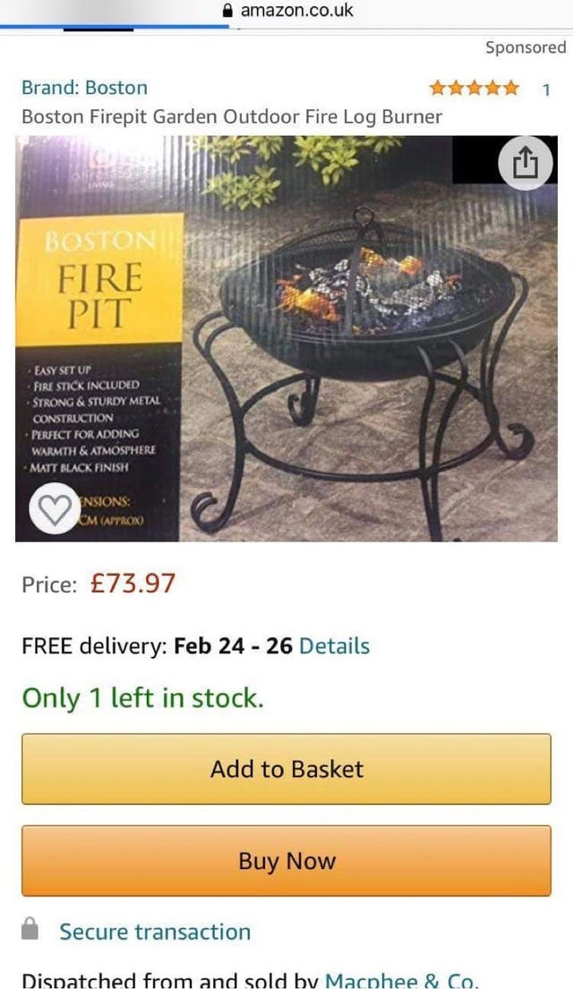 Boston fire pit