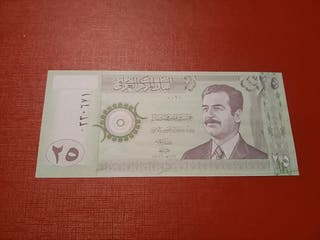Billete Irak 25 dinars antiguo SC