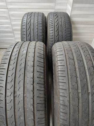 4 neumáticos 225/55 R16 95W,Bridgestone y Pirelli