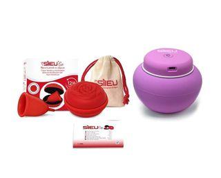 Copa menstrual Sileu Rose, Talla S, Rojo,